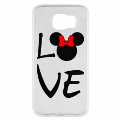 Чехол для Samsung S6 Love Mickey Mouse (female) - FatLine