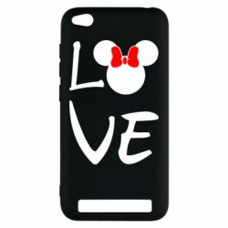 Чехол для Xiaomi Redmi 5a Love Mickey Mouse (female) - FatLine
