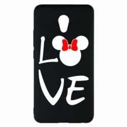 Чехол для Meizu M5 Note Love Mickey Mouse (female) - FatLine
