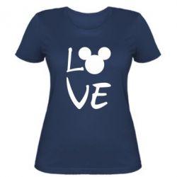 Жіноча футболка Love Mickey Mouse (male)