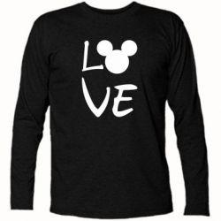 Футболка з довгим рукавом Love Mickey Mouse (male)