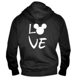 Чоловіча толстовка на блискавці Love Mickey Mouse (male)