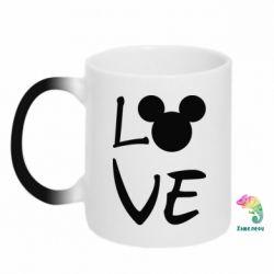 Кружка-хамелеон Love Mickey Mouse (male)