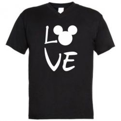 Чоловіча футболка з V-подібним вирізом Love Mickey Mouse (male)