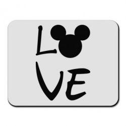 Купить Коврик для мыши Love Mickey Mouse (male), FatLine