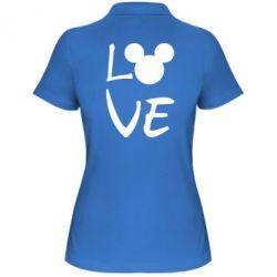 Жіноча футболка поло Love Mickey Mouse (male)