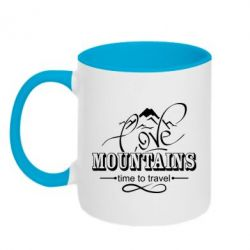 Кружка двоколірна 320ml Love mountains