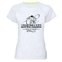 Жіноча спортивна футболка Love mountains