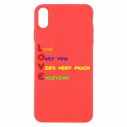 Чехол для iPhone X/Xs Love only you very, very much everyday