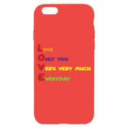 Чехол для iPhone 6/6S Love only you very, very much everyday