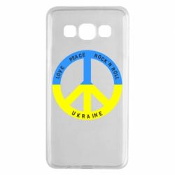 Чехол для Samsung A3 2015 Love,peace, rock'n'roll, Ukraine - FatLine