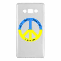 Чехол для Samsung A7 2015 Love,peace, rock'n'roll, Ukraine - FatLine