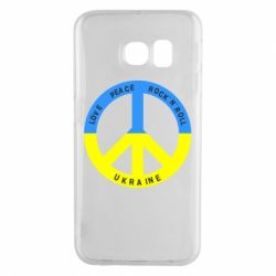 Чехол для Samsung S6 EDGE Love,peace, rock'n'roll, Ukraine - FatLine