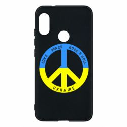 Чехол для Mi A2 Lite Love,peace, rock'n'roll, Ukraine - FatLine