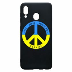 Чехол для Samsung A30 Love,peace, rock'n'roll, Ukraine