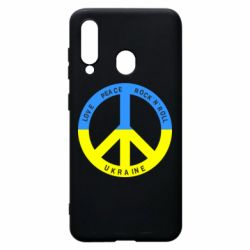 Чехол для Samsung A60 Love,peace, rock'n'roll, Ukraine