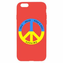 Чехол для iPhone 6/6S Love,peace, rock'n'roll, Ukraine - FatLine