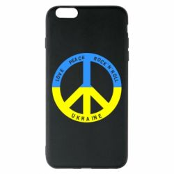 Чехол для iPhone 6 Plus/6S Plus Love,peace, rock'n'roll, Ukraine - FatLine