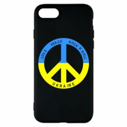 Чехол для iPhone 8 Love,peace, rock'n'roll, Ukraine