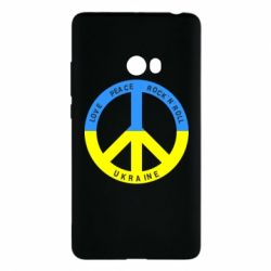 Чехол для Xiaomi Mi Note 2 Love,peace, rock'n'roll, Ukraine - FatLine