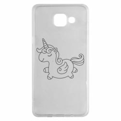 Чехол для Samsung A5 2016 Little unicorn with wings