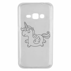 Чехол для Samsung J1 2016 Little unicorn with wings