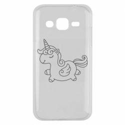 Чехол для Samsung J2 2015 Little unicorn with wings
