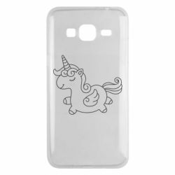 Чехол для Samsung J3 2016 Little unicorn with wings