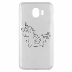Чехол для Samsung J4 Little unicorn with wings