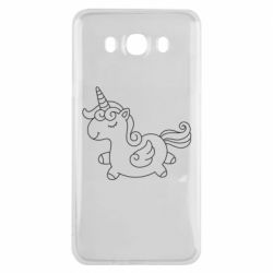 Чехол для Samsung J7 2016 Little unicorn with wings