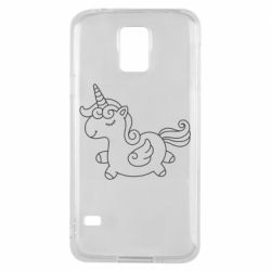 Чехол для Samsung S5 Little unicorn with wings