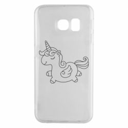 Чехол для Samsung S6 EDGE Little unicorn with wings