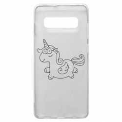 Чехол для Samsung S10+ Little unicorn with wings