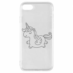 Чехол для iPhone 7 Little unicorn with wings
