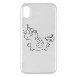 Чехол для iPhone X/Xs Little unicorn with wings