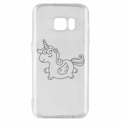 Чехол для Samsung S7 Little unicorn with wings