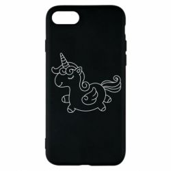 Чехол для iPhone 8 Little unicorn with wings