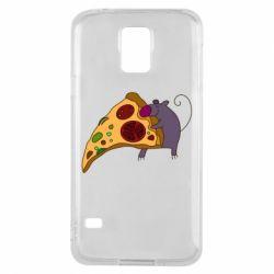 Чехол для Samsung S5 Love Pizza 2