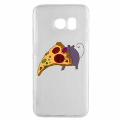 Чехол для Samsung S6 EDGE Love Pizza 2