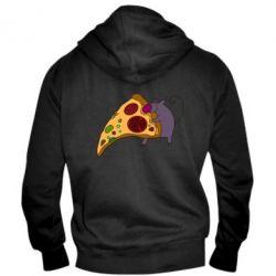 Мужская толстовка на молнии Love Pizza 2 - FatLine