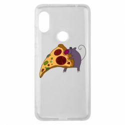 Чехол для Xiaomi Redmi Note 6 Pro Love Pizza 2
