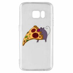 Чехол для Samsung S7 Love Pizza 2