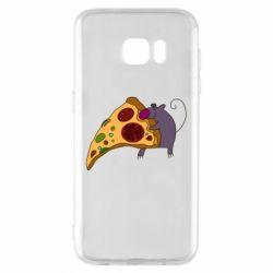 Чехол для Samsung S7 EDGE Love Pizza 2