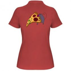 Женская футболка поло Love Pizza 2 - FatLine