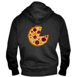 Мужская толстовка на молнии Love Pizza - FatLine