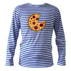 Тельняшка с длинным рукавом Love Pizza - FatLine