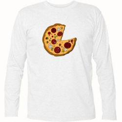 Футболка с длинным рукавом Love Pizza - FatLine