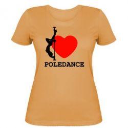 Женская футболка Love Pole Dance