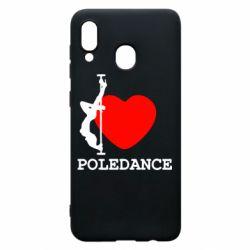 Чохол для Samsung A20 Love Pole Dance