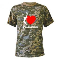 Камуфляжная футболка Love Pole Dance - FatLine
